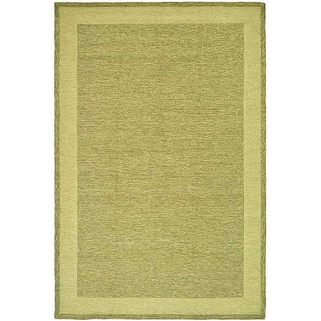 Safavieh Hand-hooked Easy Care Gabbeh Green Rug (6' x 9')