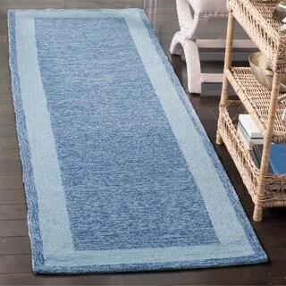 Safavieh Hand-hooked Easy Care Gabbeh Blue Runner Rug (2' 6 x 10')
