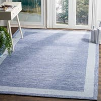 Safavieh Hand-hooked Easy Care Gabbeh Blue Rug - 6' x 9'