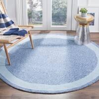 Safavieh Hand-hooked Easy Care Gabbeh Blue Rug (8' Round) - 8' Round