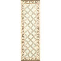 Safavieh Hand-hooked Easy Care Trellis Ivory/ Beige Runner (2'6 x 10')