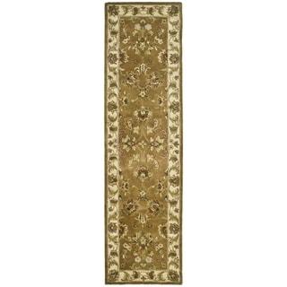 Safavieh Handmade Heritage Traditional Tabriz Mocha/ Ivory Wool Runner (2'3 x 4')