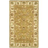 Safavieh Handmade Heritage Traditional Tabriz Mocha/ Ivory Wool Rug - 3' x 5'