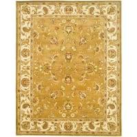 "Safavieh Handmade Heritage Traditional Tabriz Mocha/ Ivory Wool Rug - 9'6"" x 13'6"""