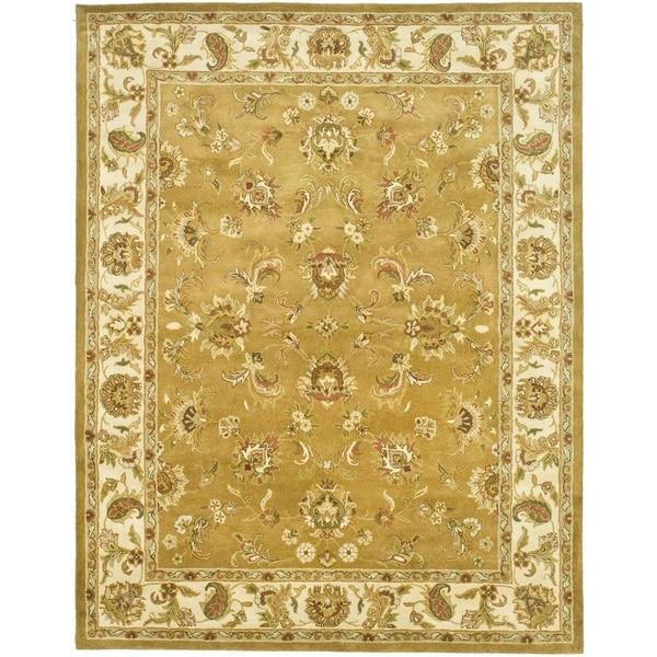 Safavieh Handmade Heritage Traditional Tabriz Mocha/ Ivory Wool Rug - 7'6 x 9'6