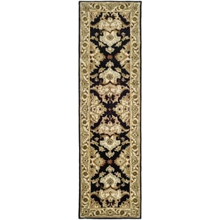 Safavieh Handmade Heritage Timeless Traditional Black/ Ivory Wool Runner (2'3 x 4')