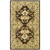 Safavieh Handmade Heritage Timeless Traditional Black/ Ivory Wool Rug - 3' x 5'