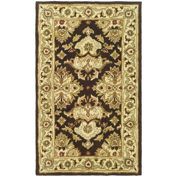 Safavieh Handmade Heritage Timeless Traditional Black/ Ivory Wool Rug (3' x 5')