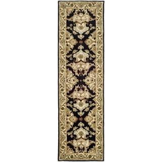 Safavieh Handmade Heritage Timeless Traditional Black/ Ivory Wool Runner (2'3 x 8')