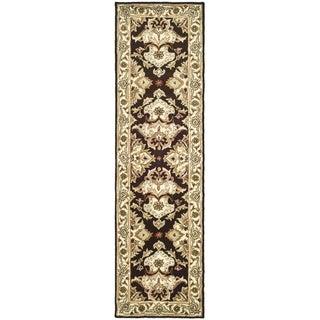 Safavieh Handmade Heritage Timeless Traditional Dark Mocha/ Ivory Wool Runner (2'3 x 10')