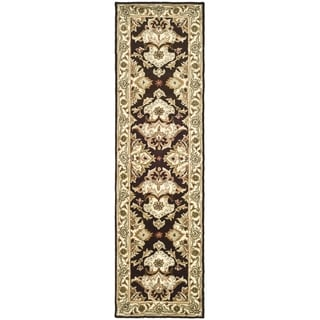 Safavieh Handmade Heritage Timeless Traditional Dark Mocha/ Ivory Wool Runner (2'3 x 12')