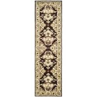 Safavieh Handmade Heritage Timeless Traditional Dark Mocha/ Ivory Wool Runner (2'3 x 14')