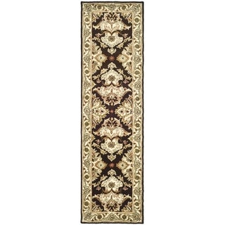 Safavieh Handmade Heritage Timeless Traditional Dark Mocha/ Ivory Wool Runner (2'3 x 8')