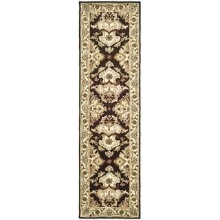 Safavieh Handmade Heritage Timeless Traditional Dark Mocha/ Ivory Wool Runner (2'3 x 4')