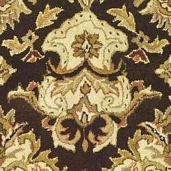 Safavieh Handmade Heritage Timeless Traditional Dark Mocha/ Ivory Wool Rug (3' x 5') - Thumbnail 2