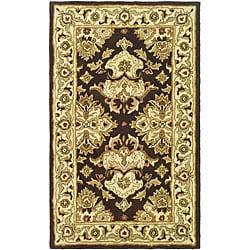 Safavieh Handmade Heritage Timeless Traditional Dark Mocha/ Ivory Wool Rug - 3' x 5' - Thumbnail 0