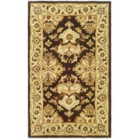 Safavieh Handmade Heritage Caroline Traditional Dark Mocha/ Ivory Wool Rug - 3' x 5'