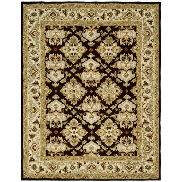 Safavieh Handmade Heritage Timeless Traditional Dark Mocha/ Ivory Wool Rug - 9'6 x 13'6
