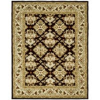 Safavieh Handmade Heritage Timeless Traditional Dark Mocha/ Ivory Wool Rug - 5' x 8'