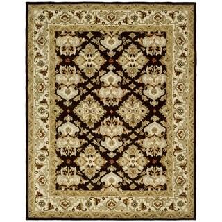 Safavieh Handmade Heritage Timeless Traditional Dark Mocha/ Ivory Wool Rug (7'6 x 9'6)