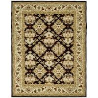 Safavieh Handmade Heritage Timeless Traditional Dark Mocha/ Ivory Wool Rug (8'3 x 11')