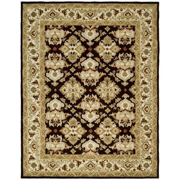 Safavieh Handmade Heritage Timeless Traditional Dark Mocha/ Ivory Wool Rug - 8'3 x 11'