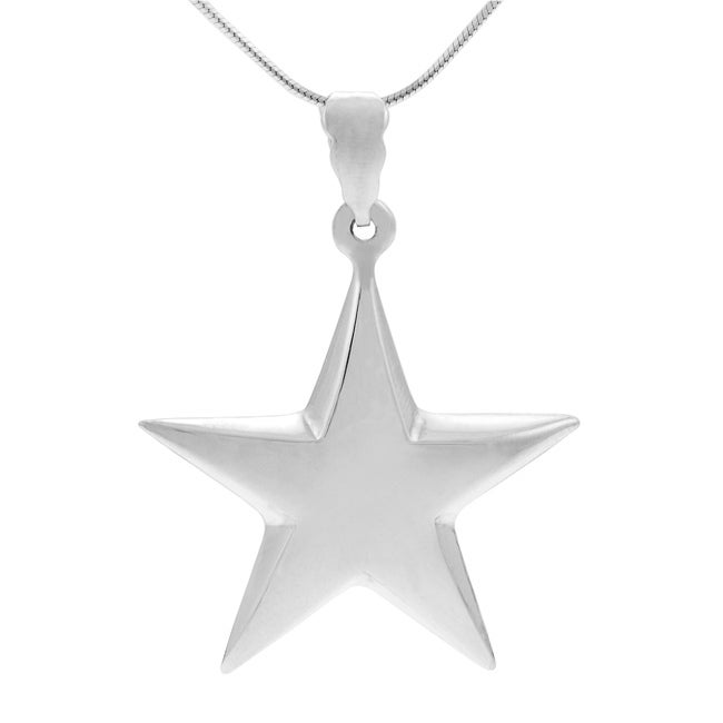 Journee Collection Sterling Silver Star Pendant