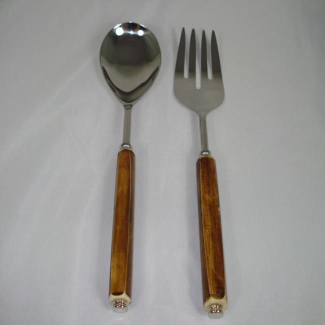 Brown Bone 2-piece Serving Set (India)