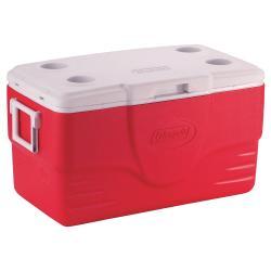 Coleman 50-Quart Red Cooler - Thumbnail 2