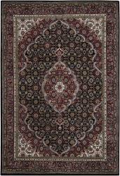 Hand-knotted Mandara Burgundy Wool Rug (9' x 13') - Thumbnail 2