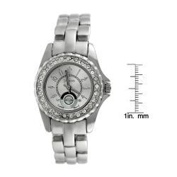 Geneva Women's Platinum Rhinestone Watch - Thumbnail 2