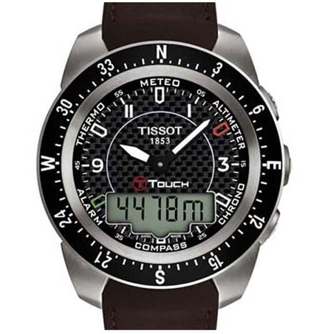 Tissot Men's T-Touch Expert Brown Leather Strap Chronograph Watch