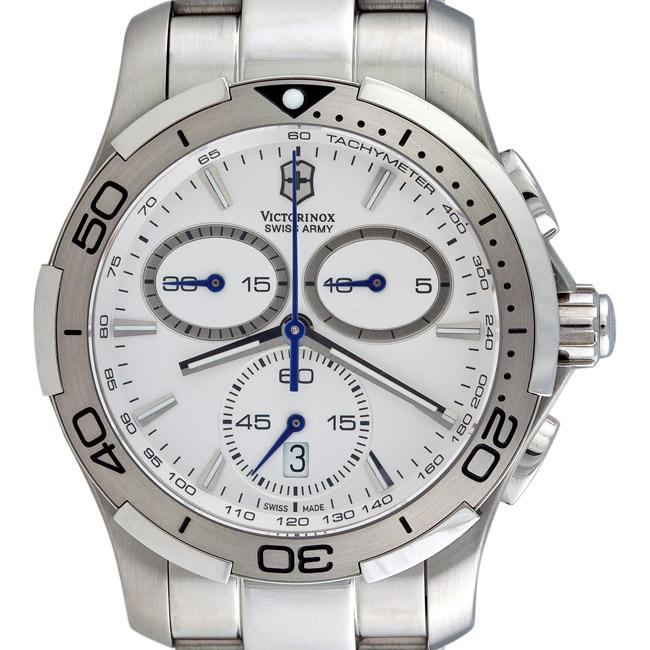 Shop Victorinox Swiss Army Men s  Alliance Sport  White Chronograph Watch -  Free Shipping Today - Overstock - 4874680 79bb5d24fc