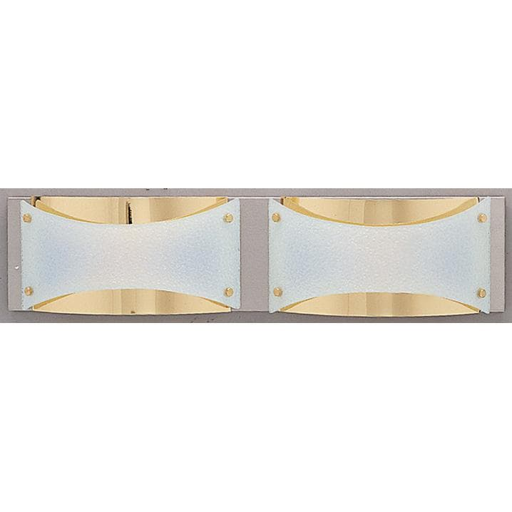 Neo Halogen 2-light Brass Bath Fixture