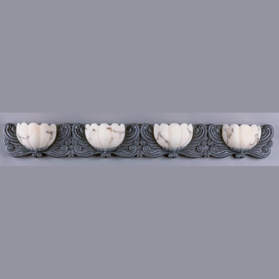 Frolic 4-light Halogen Antique Pewter Bath Fixture