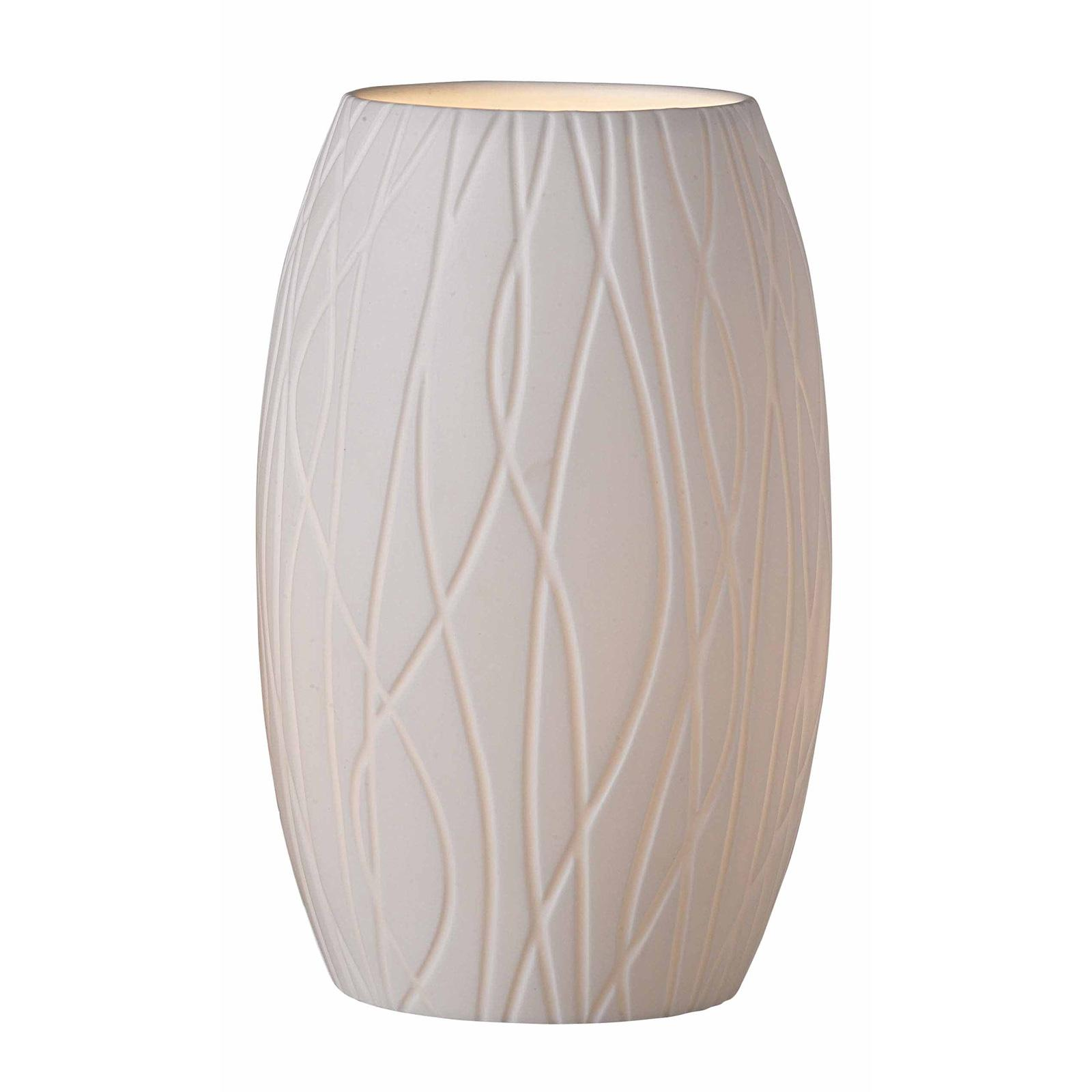 Porcelaino barrel shaped uplight table lamp free for O shaped table lamp