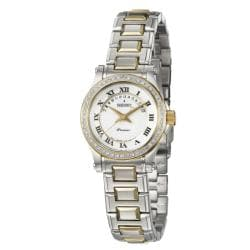 Seiko Women's Premier Two-tone Steel Diamond-accent Watch