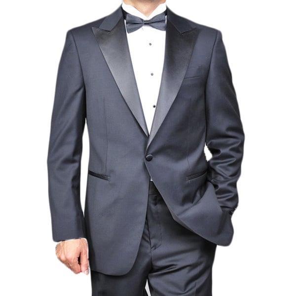 48c85067346 Shop Men s Virgin Wool One-button Tuxedo - Free Shipping Today ...