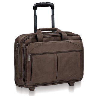 Solo Classic BrownLeather Checkfast Rolling 15.6-inch Laptop Case