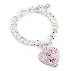 Buddy G Austrian Pet Jewelry with Rhinestone Heart Pendent (Medium)