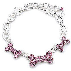 Buddy G Austrian Crystal Three-bone Pet Collar