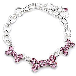 Buddy G Rhinestone Three-bone Pet Collar