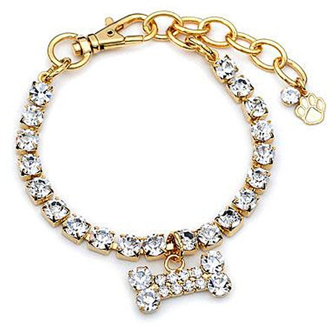Buddy G Sparkling Austrian Crystal Gold-plated Pet Jewelry ...