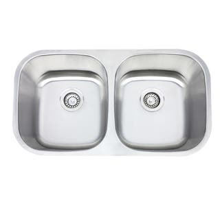 Highpoint Collection 32.5-inch Undermount Kitchen Sink with Drains|https://ak1.ostkcdn.com/images/products/4509459/P12453751.jpg?impolicy=medium