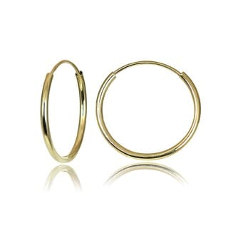 Mondevio 10k Gold 13mm Endless Hoop Earrings
