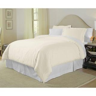 Pointehaven Pima Cotton 400 Thread Count 3-piece Duvet Cover Set