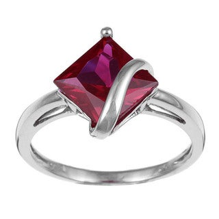 Miadora 10k White Gold Gemstone Ring