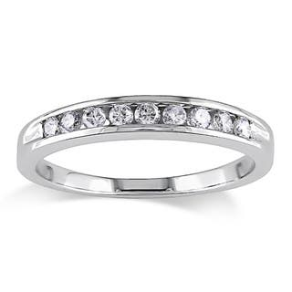 Miadora 14k Gold 1/4ct TDW Round Diamond Wedding Band|https://ak1.ostkcdn.com/images/products/450982/P928794.jpg?impolicy=medium