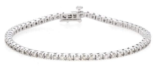 14k Gold 2ct Diamond Tennis Bracelet (K, SI1-SI2)