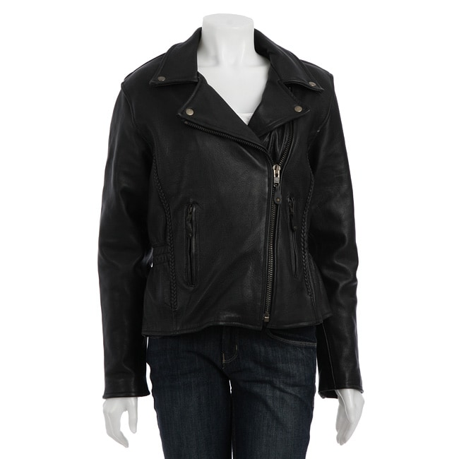 Dealer Leather Women's Leather Motorcycle Jacket